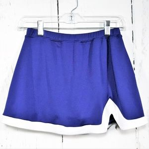 Varsity Sz M Royal Blue & White Skort
